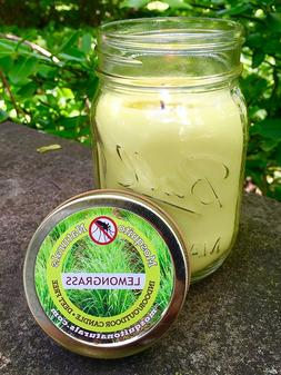 Natural Lemongrass, Citronella Mosquito Repellent Candle, In
