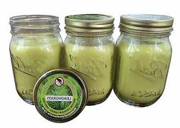 Natural Lemongrass, Citronella Mosquito Repellent Candle  In