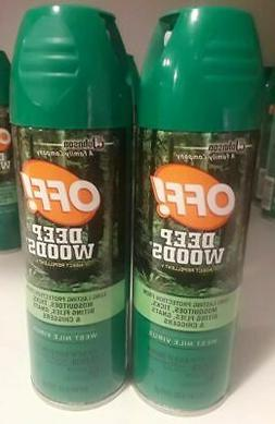 New!! OFF! Deep Woods Insect Repellent 6 Ounce Spray 2 Pack