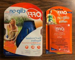 OFF! 12 Hour CLIP-ON Fan Circulated Mosquito REPELLENT w/ 2