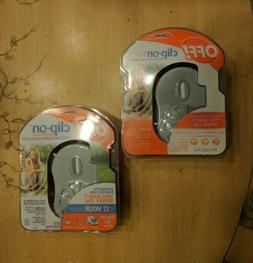 OFF! Clip-on Lot of 2 Battery Powered Fan Odorless Mosquito