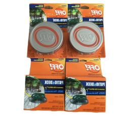 OFF! PATIO & DECK MOSQUITO REPELLENT LOT WITH COIL REFILLS N