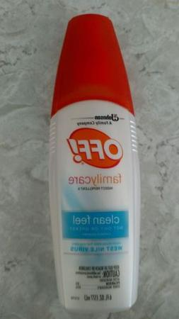 Off! Spray 6 fl.oz. Repellent Mosquito Clean Feel Family Car