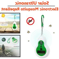 Portable Solar Ultrasonic Electronic Mosquito Repellent Outd
