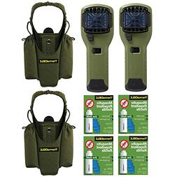 Thermacell Repeller and Holster , Olive, & 4 Refills Kit