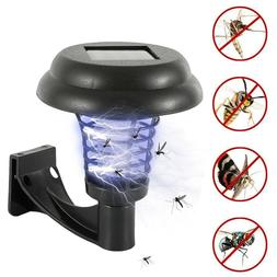 Solar Powered LED Lamp Bug Zapper Mosquito Killer Repeller L