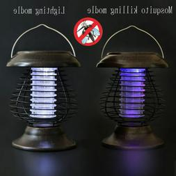 Solar Powered LED Lamp Bug Zappers  Mosquito Killer Insect R