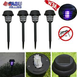 Solar Powered Mosquito Pest Bug Zapper Insect Killer fly Rep