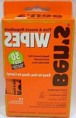 Ben's Tick & Insect Repellent Wipes 12 pc