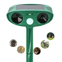 HongLex Ultrasonic Animal Repeller,Solar Ultrasonic Electron