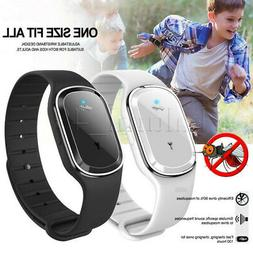 Ultrasonic Mosquito Repellent Wristband Pest Insect Bugs Rep