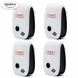 Ultrasonic Pest Repeller 4 Pack - Mosquito Repellent, Insect