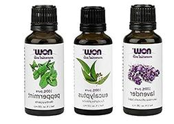 3-Pack Variety of NOW Essential Oils: Pure & Natural Blend -