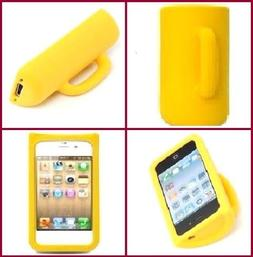 Yellow 3D Coffee Cute Mug Silicone Stand Case Cover Skin for